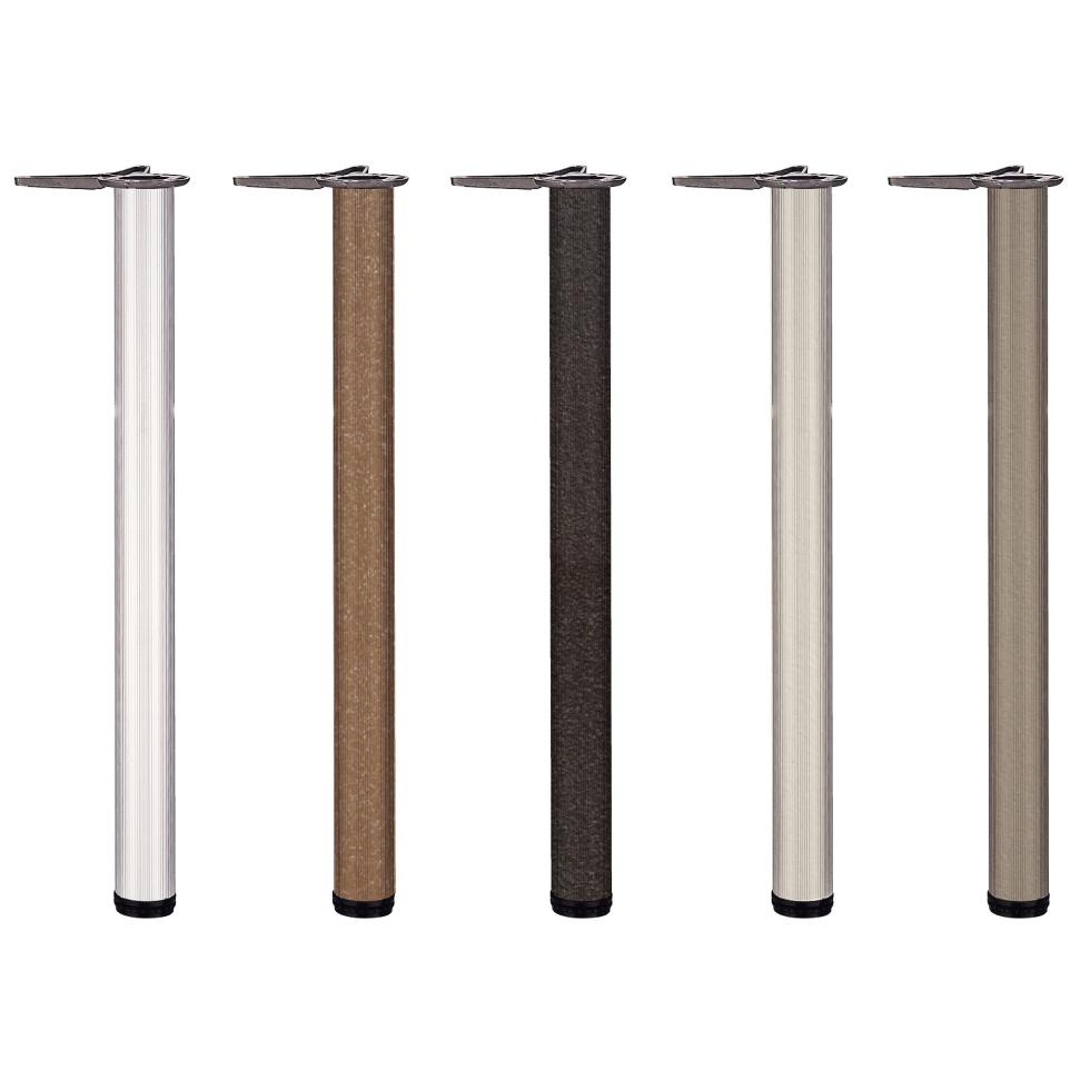 圓管鋁桌腳/60mm